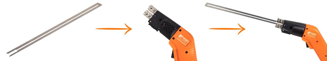 Cutting blade Type-D25! for Hot Knife cutter HWS250!